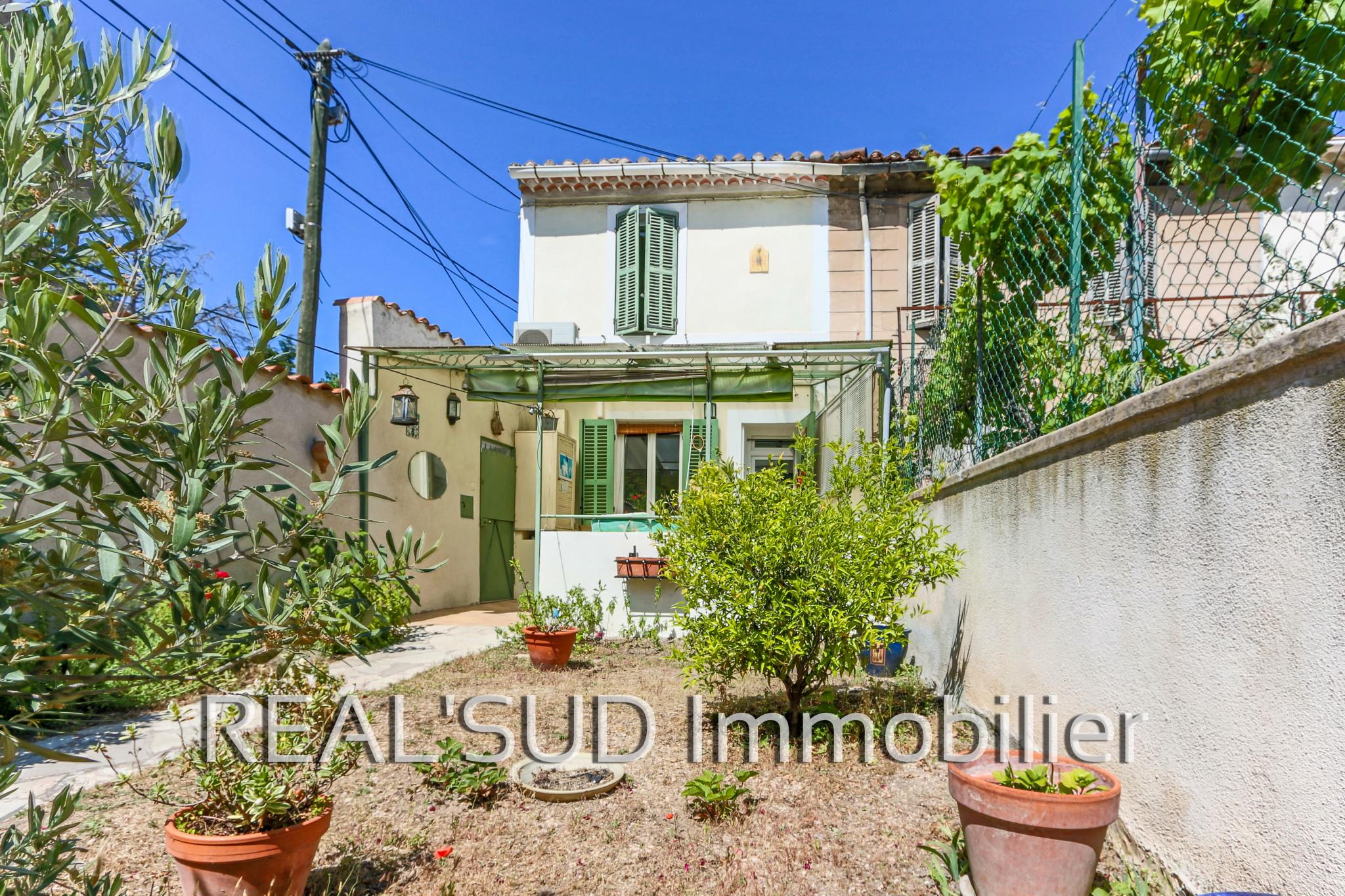 vente Marseille 13009, maison de ville avec jardin